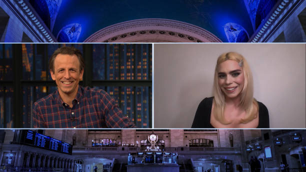 """NY: NBC'S """"Late Night With Seth Meyers"""" With Guests Rachel Maddow, Billie Piper (Band Sit-In: Sarah Thawer)"""
