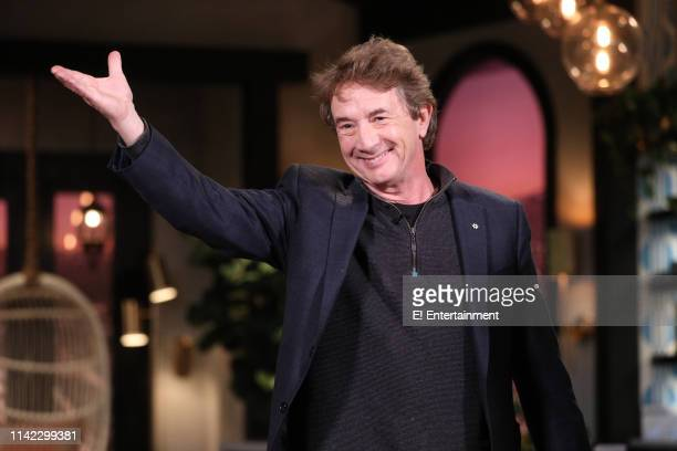 Guest Martin Short on the set of Busy Tonight