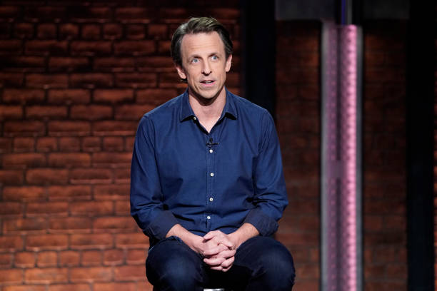 "NY: NBC's ""Late Night With Seth Meyers"" With Guests Abby Phillip, Sen. Bernie Sanders (Band Sit-In: Sarah Thawer)"