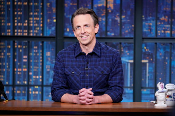 """NY: NBC'S """"Late Night with Seth Meyers"""" With Guests Gillian Anderson, Kate Flannery, BARTEES STRANGE"""