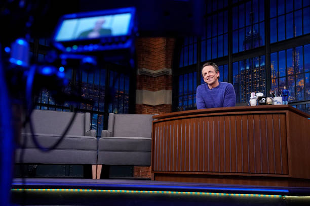"""NY: NBC'S """"Late Night With Seth Meyers"""" With Guests Stanley Tucci, Kate Berlant & Jacqueline Novak"""