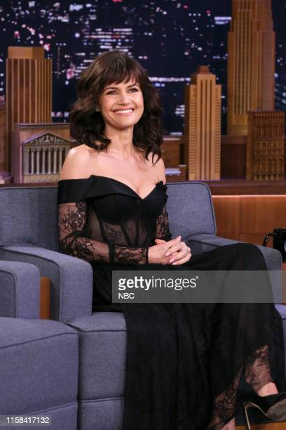 Episode 1098 -- Pictured: Actress Carla Gugino during an interview on July 29, 2019 --