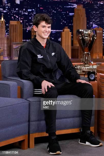 Fortnite World Cup Solo Champion Kyle Bugha Giersdorf during an interview on July 29 2019