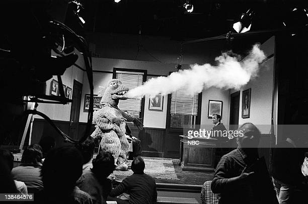 LIVE Episode 11 Air Date Pictured Godzilla Bill Murray as the judge during 'Kramer vs Godzilla' skit on February 16 1980