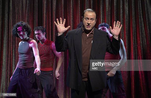 LIVE Episode 11 Air Date 1/19/2002 Pictured Darrell Hammond as James Gandolfini during the 'Now That's What Actors Call Sining' skit on January 11...