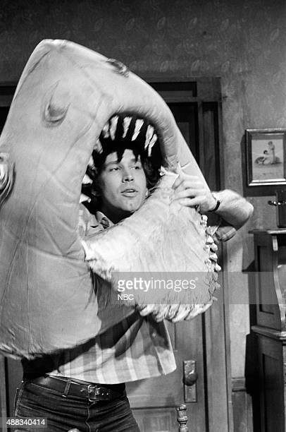 Chevy Chase as Land Shark during the 'Endings' skit on February 18 1978