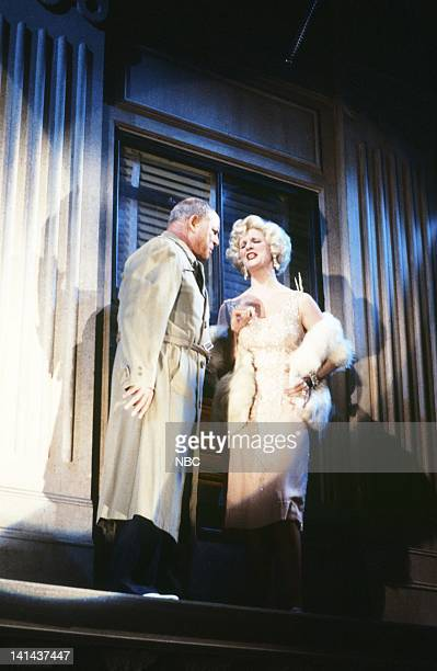 Don Rickles as Mel Fifkin Mary Gross as Debbie Laverne during the 'This is Your Afterlife' skit on January 28 1984 Photo by Reggie Lewis/NBC/NBCU...
