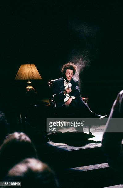 Episode 11 -- Pictured: during the 'A Message from Ted Bundy' skit on January 28, 1989