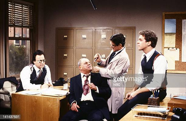 Episode 11 -- Pictured: Jim Belushi as officer, Don Rickles as Mr. Booty, Tim Kazurinsky as Dr. Cole, Joe Piscopo as officer during the 'Witness...