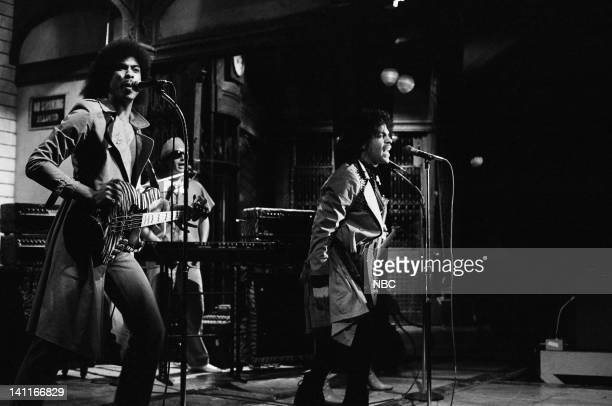 Musical guest Prince performs on February 21 1981 Photo by Alan Singer/NBC/NBCU Photo Bank