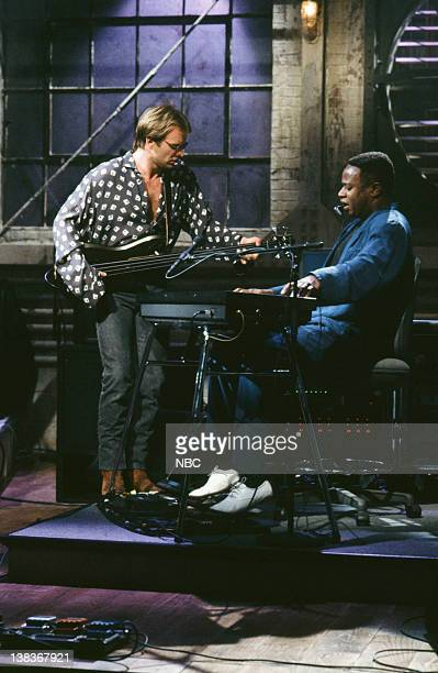 Musical guest Sting performs on January 19 1991