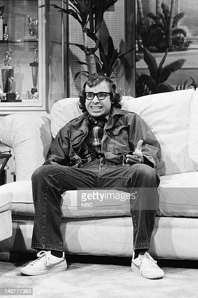 Rick Moranis as Woody Allen during the 'Sperbowl Party' skit on January 29 1983 Photo by Fred Hermansky/NBC/NBCU Photo Bank