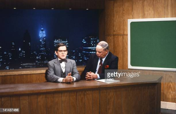 Tim Kazurinsky as Worthington Clotman Don Rickles during the 'Weekend Update' skit on January 28 1984 Photo by Reggie Lewis/NBC/NBCU Photo Bank