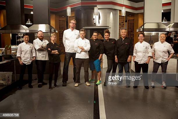 Episode 110 -- Pictured: Shirley Chung, Kevin Gillespie, Jen Carroll, CJ Jacobson, Richard Blais, Dale Talde, Antonia Lofaso, Takashi Yagihashi,...