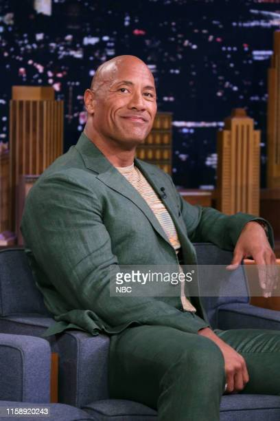 Episode 1100 -- Pictured: Actor Dwayne Johnson during an interview on July 31, 2019 --