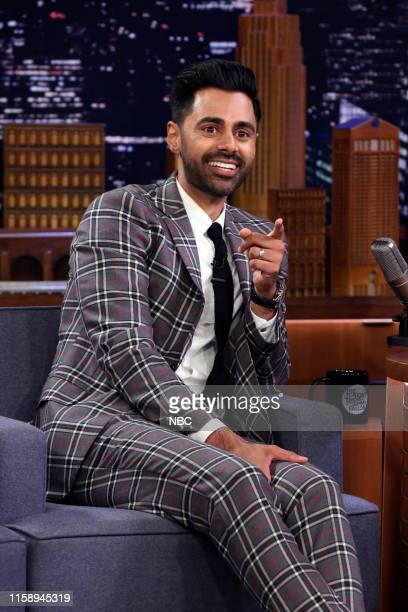 Episode 1101 -- Pictured: Comedian Hasan Minhaj during an interview on August 1, 2019 --