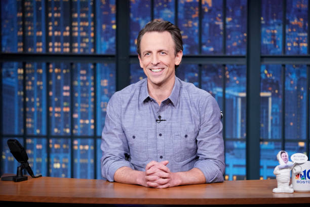 "NY: NBC'S ""Late Night With Seth Meyers"" With Guests Amy Schumer, Thomas Middleditch (Band Sit-In: Matt Cameron)"