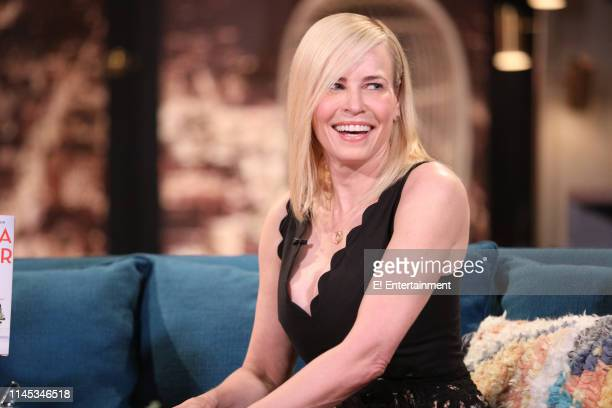 Guest Chelsea Handler on the set of Busy Tonight
