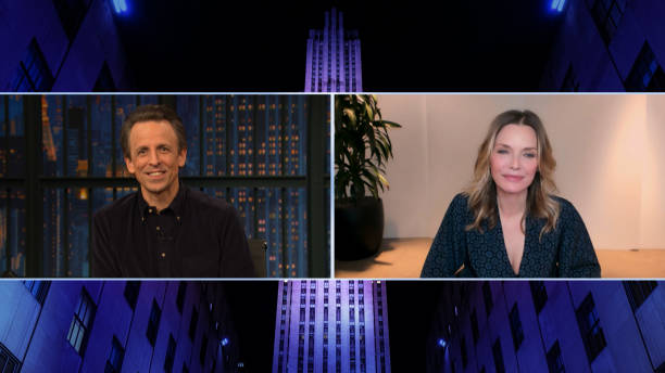 "NY: NBC'S ""Late Night With Seth Meyers"" With Guests Michelle Pfeiffer, Impractical Jokers (Band Sit-In: Matt Cameron)"