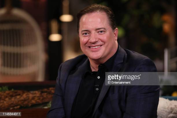 Surprise guest Brendan Fraser on the set of Busy Tonight