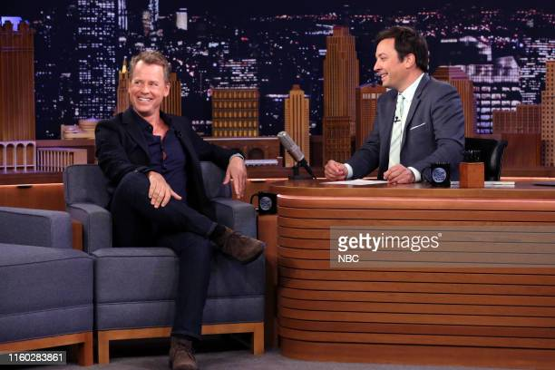 Actor Greg Kinnear during an interview with host Jimmy Fallon on August 7 2019