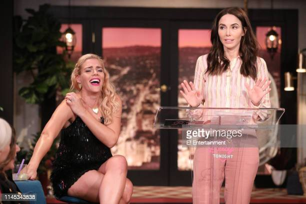 Episode 1104 -- Pictured: Host Busy Philipps and guest Whitney Cummings on the set of Busy Tonight --