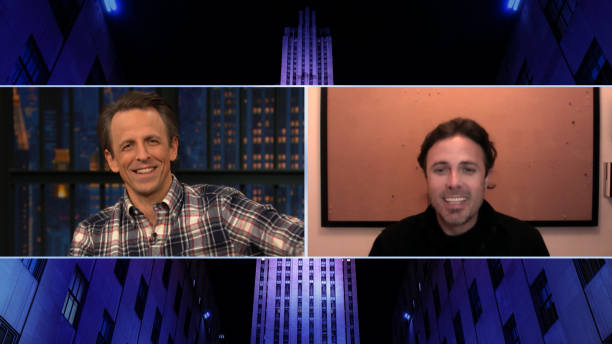 "NY: NBC'S ""Late Night With Seth Meyers"" With Guests Casey Affleck, Anthony Atamanuik"