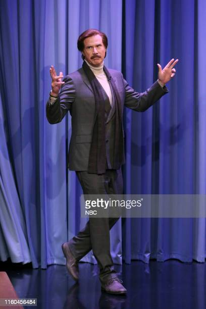 Anchorman Ron Burgundy arrives to the show on August 8 2019