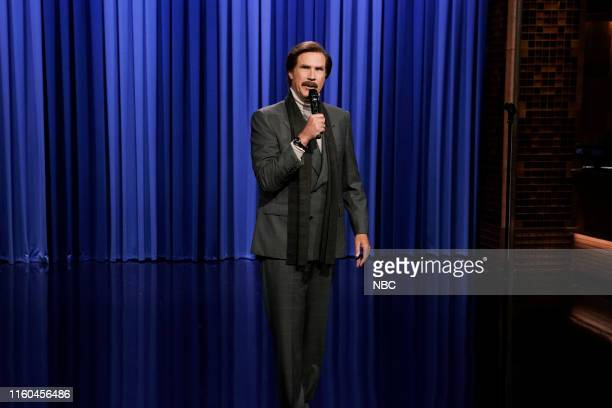 Anchorman Ron Burgundy performs standup comedy on August 8 2019