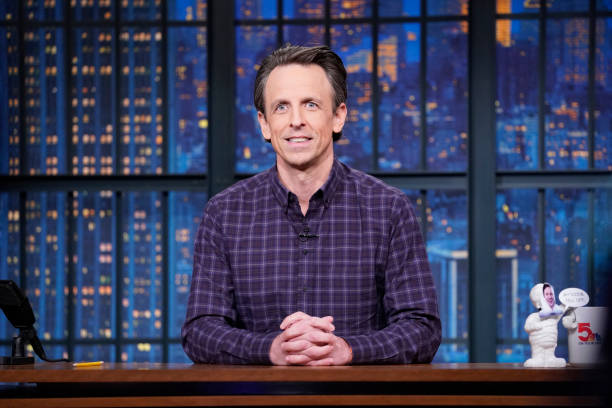 "NY: NBC'S ""Late Night With Seth Meyers"" With Guests Allison Janney, Rep. Cori Bush"