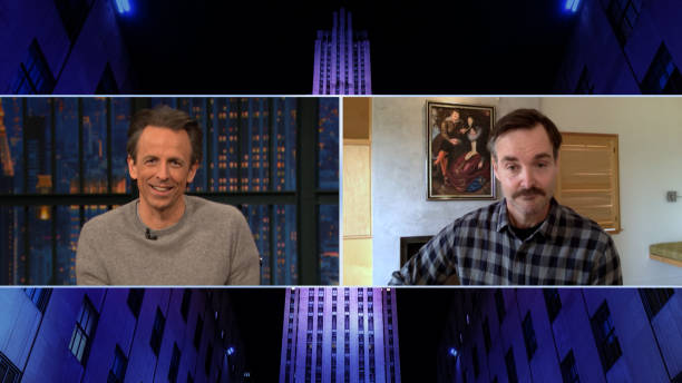 "NY: NBC'S ""Late Night With Seth Meyers"" With Guests Will Forte, Annie Mumolo"