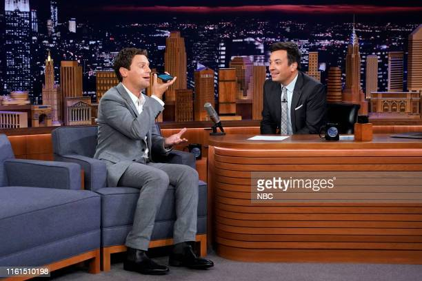 Actor Jonathan Groff during an interview with host Jimmy Fallon on August 13 2019