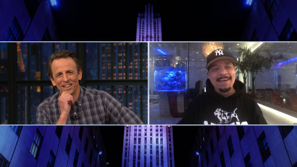 "NY: NBC'S ""Late Night With Seth Meyers"" With Guests Ice T, Tracey Wigfield (Band Sit-In: Raghav Mehrotra)"