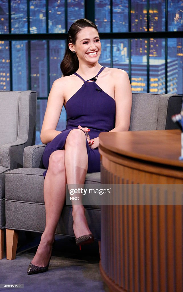 "NBC's ""Late Night With Seth Meyers"" With Guests Robert Downey Jr., Emmy Rossum, Chris Gethard"