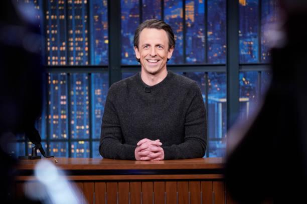 "NY: NBC'S ""Late Night With Seth Meyers"" With Guests David Spade, Jason Mantzoukas (Band Sit-In: Raghav Mehrotra)"