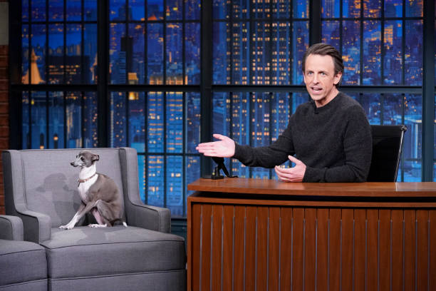 "NY: NBC'S ""Late Night With Seth Meyers"" With Guests David Spade, Jason Mantzoukas (Band Sit-In: Raghav Mehrotra)"