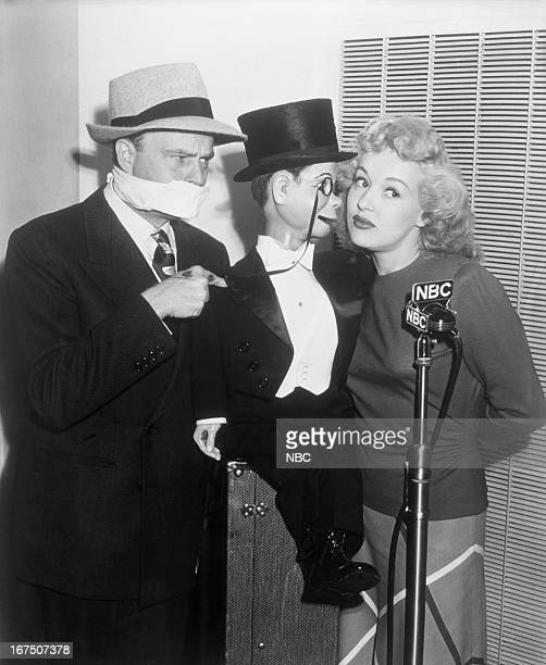Hosts Edgar Bergen Charlie McCarthy actress Betty Grable
