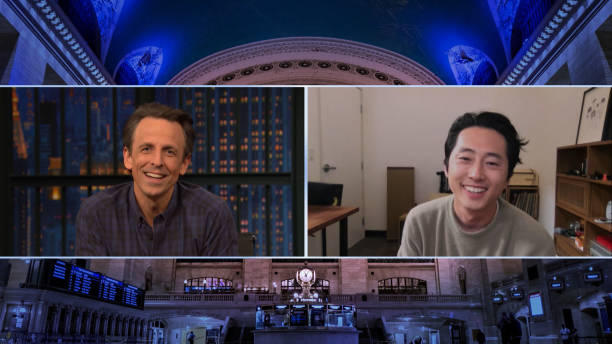 "NY: NBC'S ""Late Night With Seth Meyers"" With Guests Kenan Thompson, Steven Yeun, JULIEN BAKER"