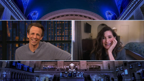 "NY: NBC'S ""Late Night With Seth Meyers"" With Guests Regina King, Kathryn Hahn, Chang-rae Lee"