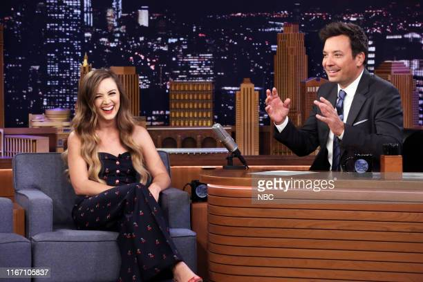 Episode 1115 -- Pictured: Actress Billie Lourd during an interview with host Jimmy Fallon on September 9, 2019 --