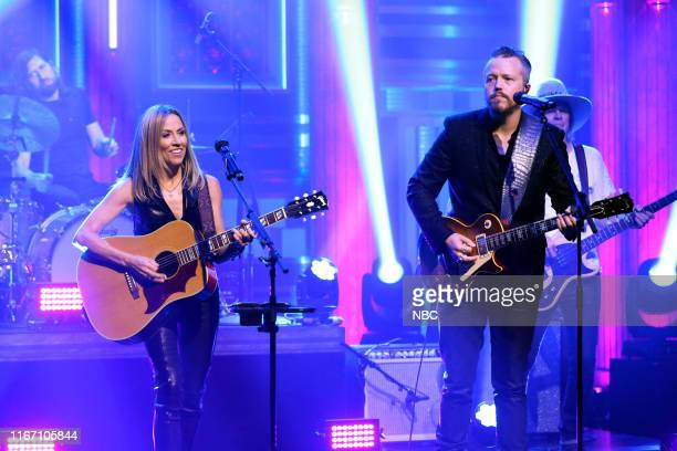 Episode 1115 -- Pictured: Musical guest Sheryl Crow featuring Jason Isbell performs on September 9, 2019 --