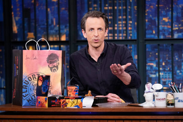 """NY: NBC'S """"Late Night With Seth Meyers"""" With Guests Eddie Murphy, Guy Fieri (Band Sit-In: John Herndon)"""