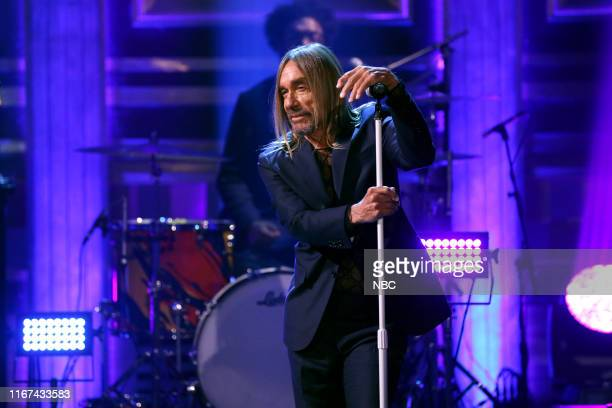 Musical guest Iggy Pop performs on September 11 2019