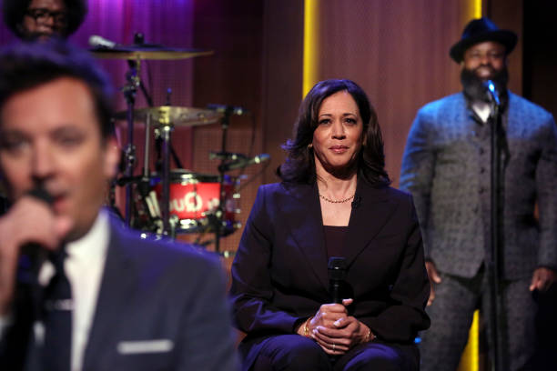 """NY: NBC's """"Tonight Show Starring Jimmy Fallon"""" With Guests Senator Kamala Harris, Lilly Singh, Charli XCX, CHARLI XCX FT. CHRISTINE AND THE QUEENS"""
