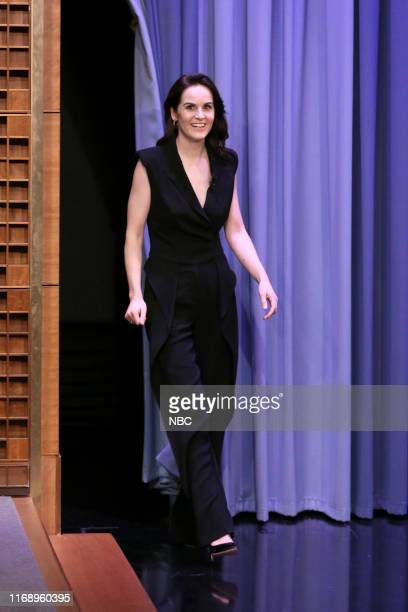Episode 1120 -- Pictured: Actress Michelle Dockery arrives to the show on September 17, 2019 --