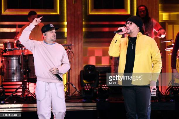 Musical guest Residente featuring Bad Bunny performs on September 18 2019