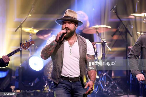 Musical guest Zac Brown Band performs on September 23 2019