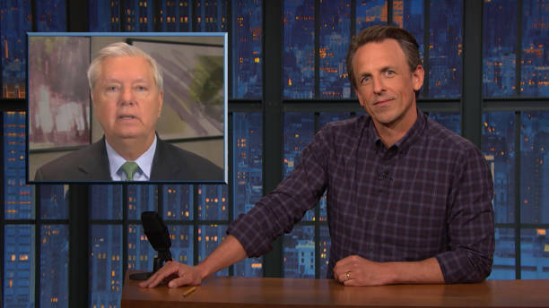 """NY: NBC's """"Late Night with Seth Meyers"""" with guests Gayle King, Mary Lynn Rajskub, ANDERSON EAST"""