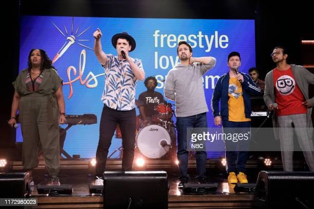 Musical guest The Cast of Freestyle Love Supreme performs on October 1 2019