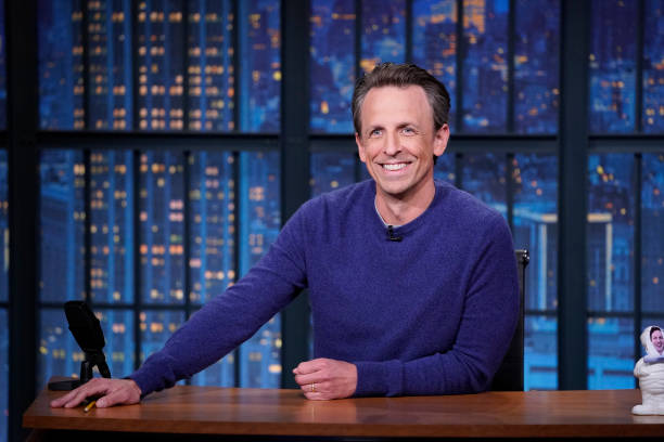 """NY: NBC'S """"Late Night With Seth Meyers"""" With Guests Rob Lowe, Domhnall & Brian Gleeson, Emerald Fennell"""